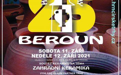 25.hrnčířské trhy Beroun – 11.a12.září 2021